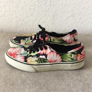 ✅Women Vans Classic Exotic Flowers Shoes 7,  7.5